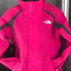 Northface pink rain jacket for girls